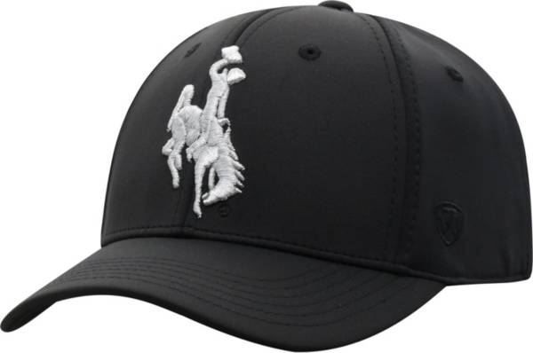 Top of the World Men's Wyoming Cowboys Phenom 10 1Fit Flex Black Hat product image