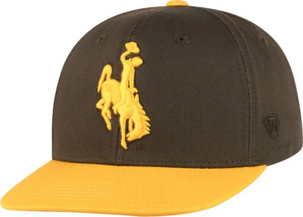 Top of the World Youth Wyoming Cowboys Brown Maverick Adjustable Hat product image