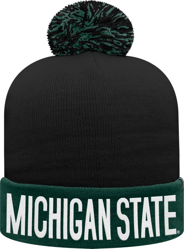 Top of the World Youth Michigan State Spartans Green/Black Void Pom Knit Beanie product image