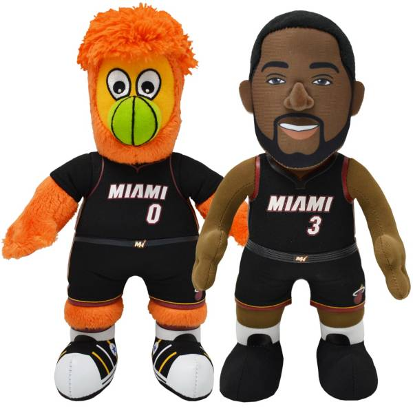 Bleacher Creatures Miami Heat Dwayne Wade & Burnie Smusher Plush Duo product image