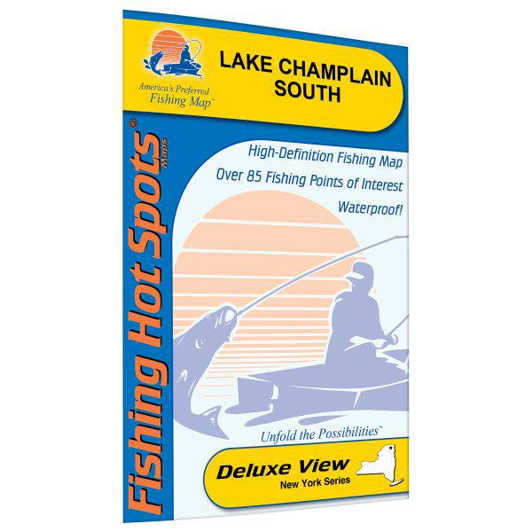 Fishing Hot Spots Champlain-South Lake Fishing Map (Cedar Beach to Whitehall) product image