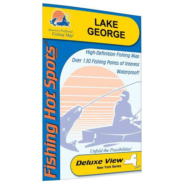 Fishing Hot Spots Lake George Fishing Map product image