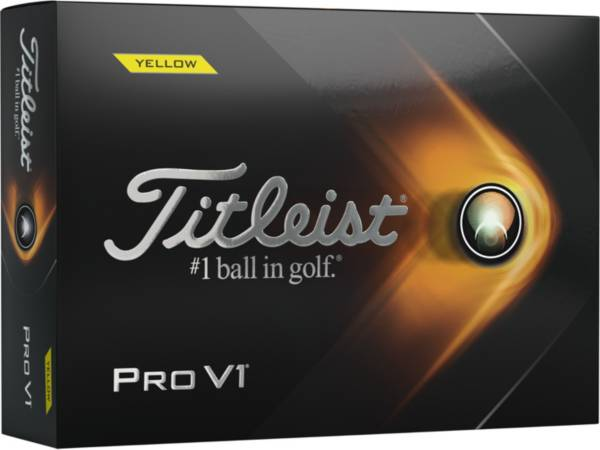 Titleist 2021 Pro V1 Yellow Golf Balls product image