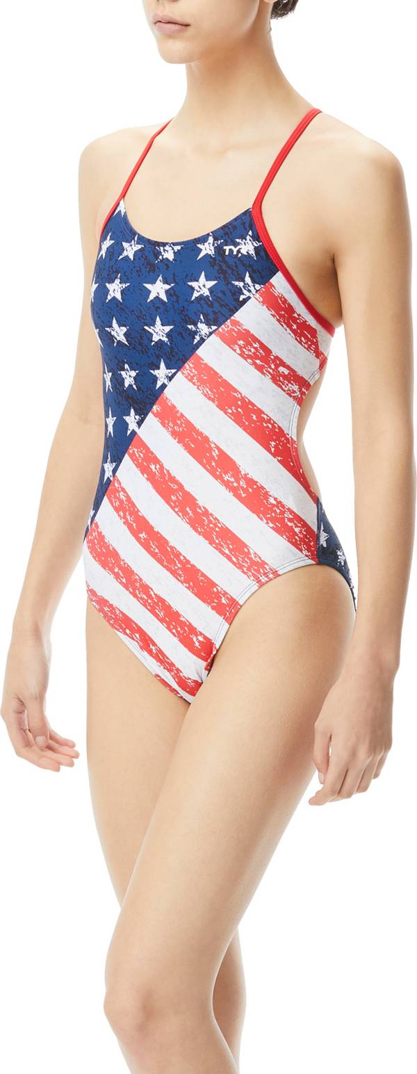 TYR Women's Star Spangled Cutoutfit One Piece Swimsuit product image