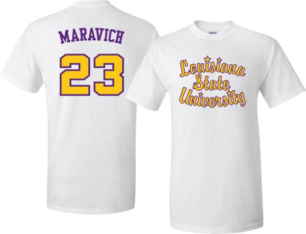 Bayou Apparel Men's LSU Tigers Pete Maravich #23 White T-Shirt product image
