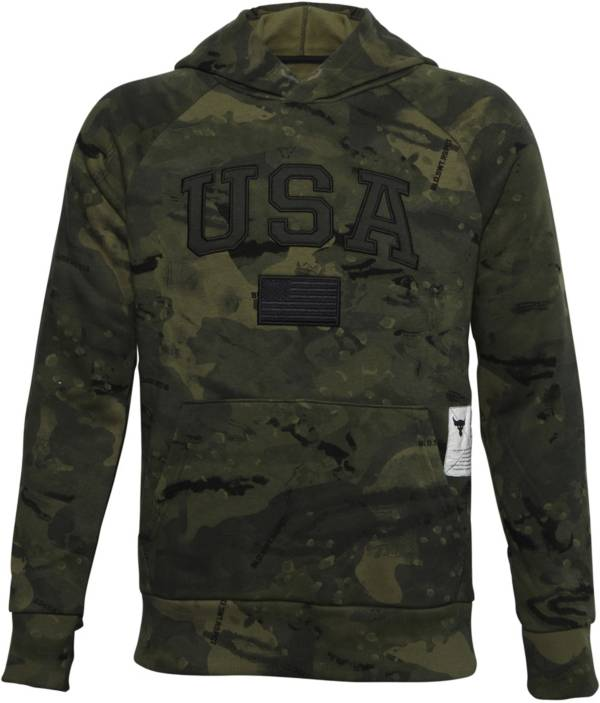 Under Armour Boys' Project Rock Veteran's Day Pullover Hoodie product image