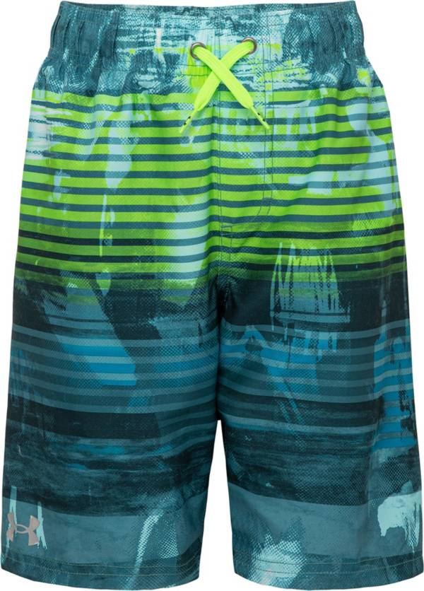 Under Armour Boys' Scribble Stripe Volley Swim Trunks product image