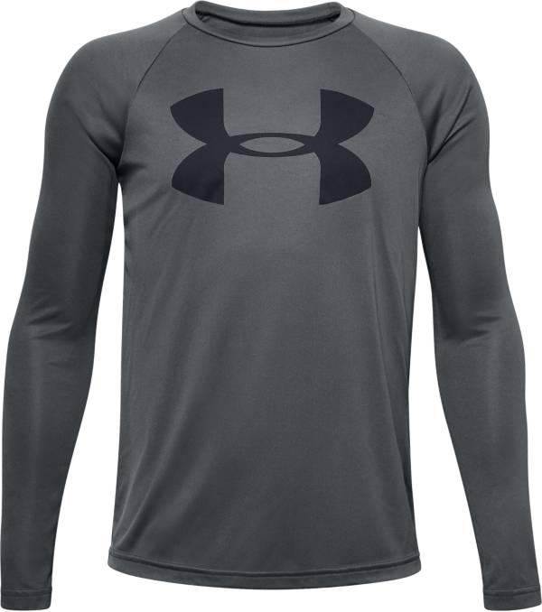Under Armour Boys' UA Tech Big Logo Long Sleeve Shirt product image