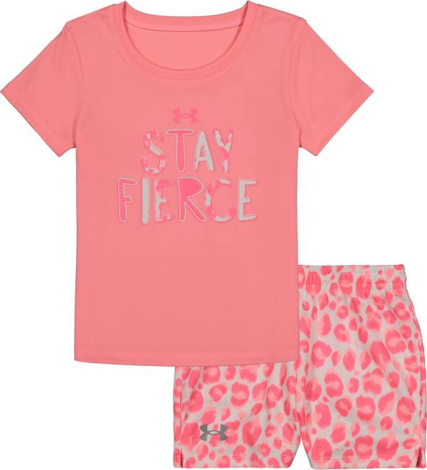 Under Armour Little Girls' Fierce T-Shirt and Shorts Set product image