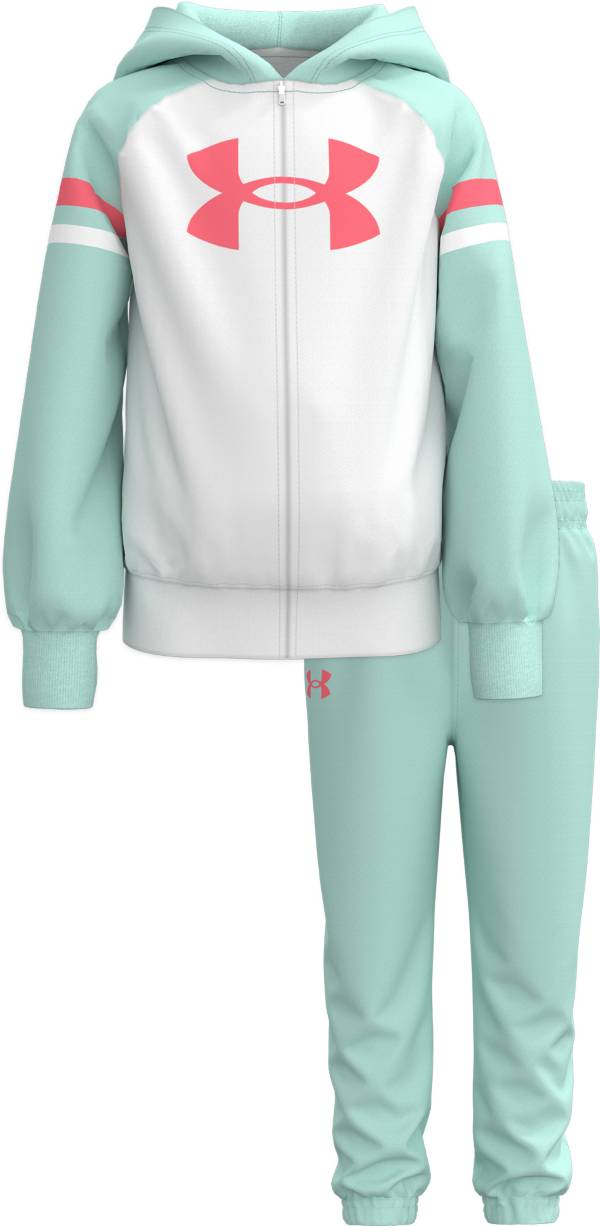Under Armour Little Girls' Big Logo Bleacher Full-Zip Hoodie and Jogger Pants Set product image