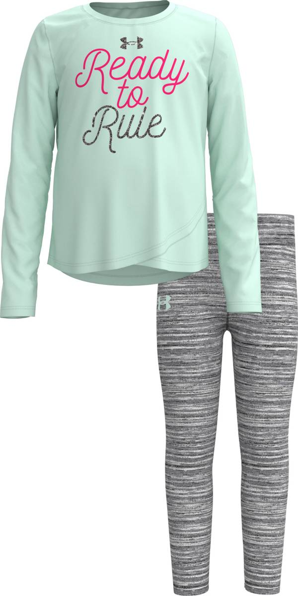 Under Armour Little Girls' Ready to Rule Long Sleeve Shirt and Leggings Set product image