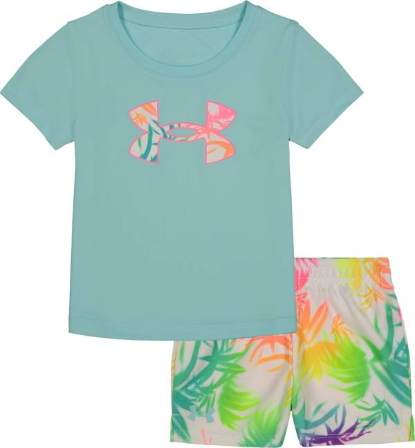 Under Armour Little Girls' Palm T-Shirt and Shorts Set product image