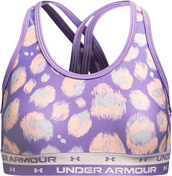 Under Armour Girls' Crossback Printed Sports Bra product image