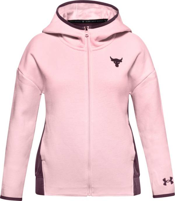 Under Armour Girls' Project Rock Charged Cotton Fleece Full-Zip Hoodie product image