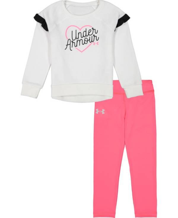 Under Armour Little Girls' Ruffle Long Sleeve Shirt and Leggings Set product image