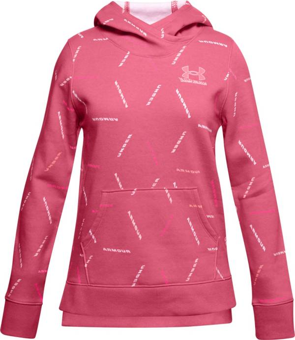 Under Armour Girls' Rival Fleece Printed Hoodie product image