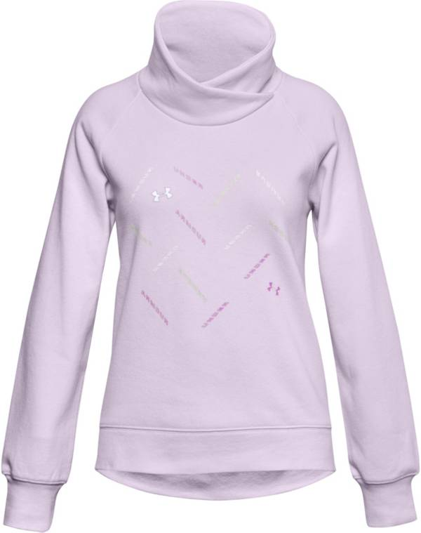 Under Armour Girls' Rival Fleece Wrap Neck Sweatshirt product image