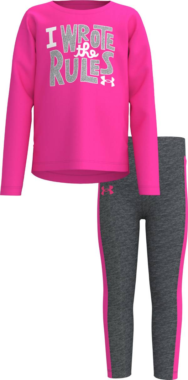 Under Armour Girls' Long Sleeve T-Shirt and Side Stripe Leggings Set product image