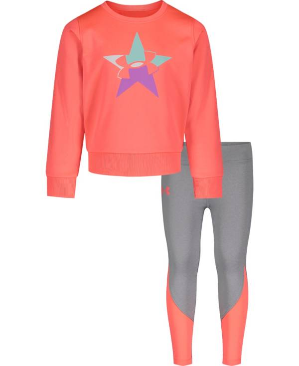 Under Armour Little Girls' Star Long Sleeve Shirt and Leggings Set product image