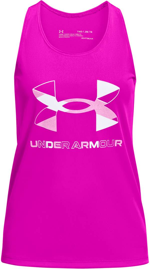 Under Armour Girls' Tech Big Logo Graphic Tank Top product image