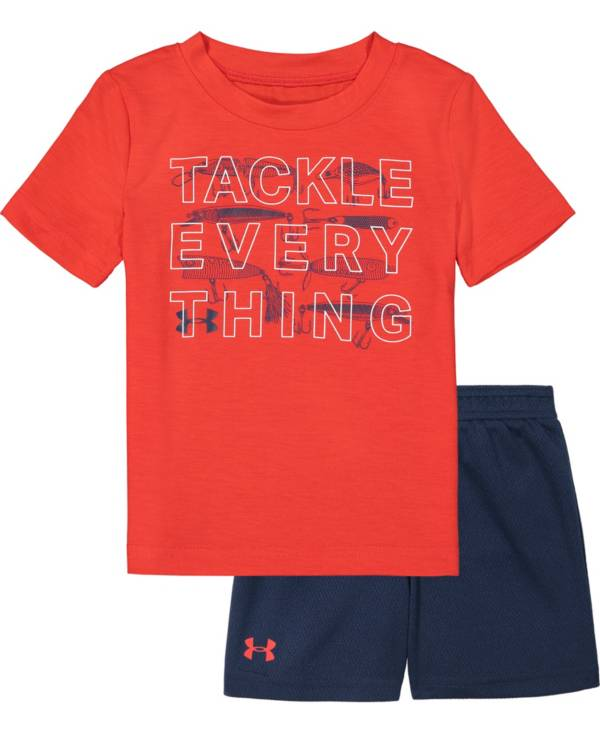 Under Armour Infant Boys' Tackle Everything T-Shirt and Shorts 2-Piece Set product image