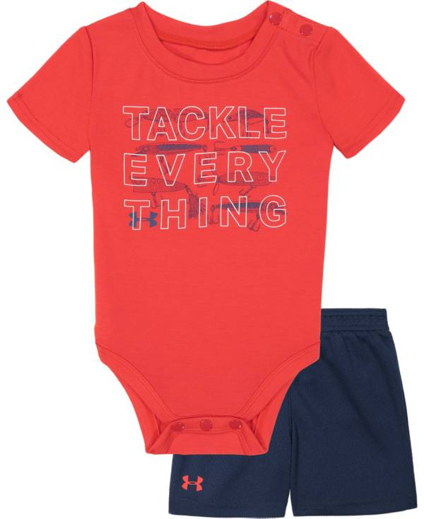 Under Armour Infant Boys' Tackle Everything Onesie and Shorts 2-Piece Set product image