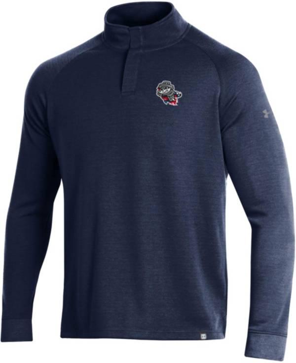Under Armour Men's Rocket City Trash Pandas Navy Quarter-Snap Shirt product image