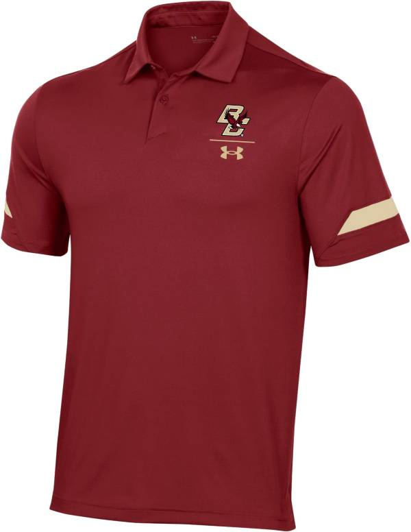 Under Armour Men's Boston College Eagles Maroon Coaches Sideline Polo product image