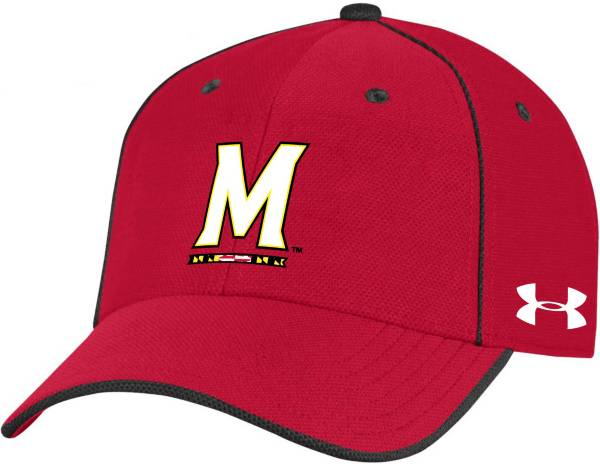 Under Armour Men's Maryland Terrapins Red Isochill Adjustable Hat product image
