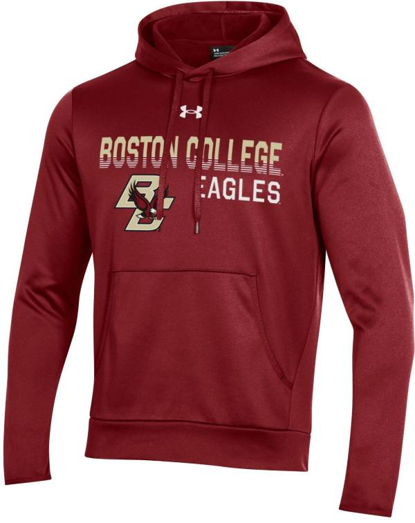 Under Armour Men's Boston College Eagles Maroon Armour Fleece Pullover Performance Hoodie product image