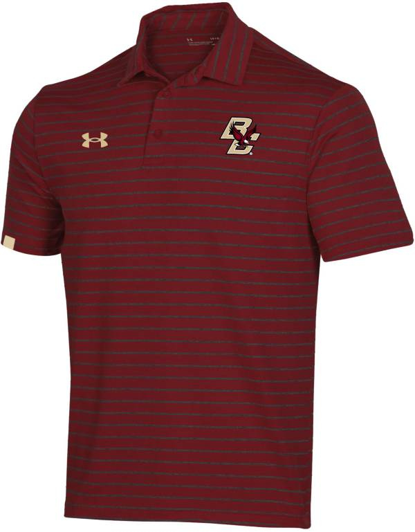 Under Armour Men's Boston College Eagles Maroon Easy Money Sideline Performance Polo product image