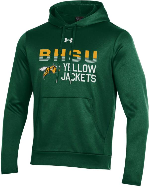 Under Armour Men's Black Hills State Yellow Jackets Green Armour Fleece Performance Hoodie product image