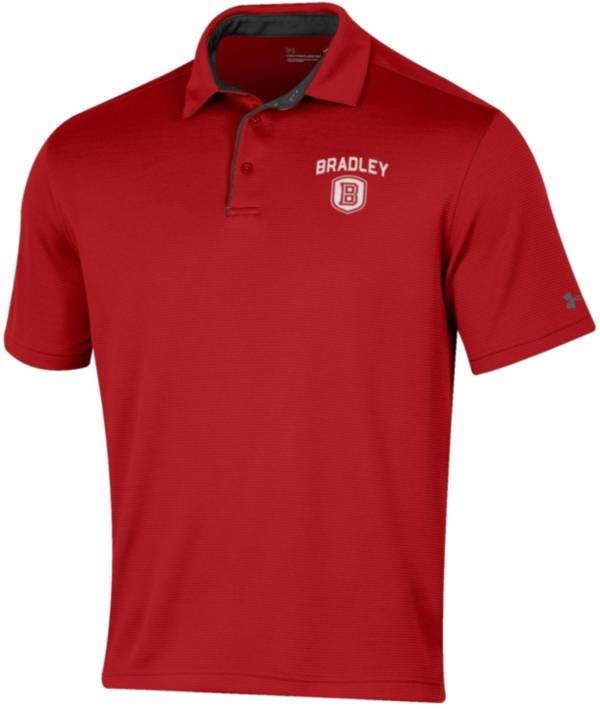 Under Armour Men's Bradley Braves Red Tech Polo product image
