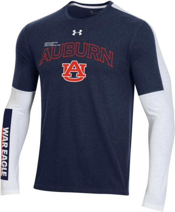 Under Armour Men's Auburn Tigers Blue Bench Long Sleeve T-Shirt product image