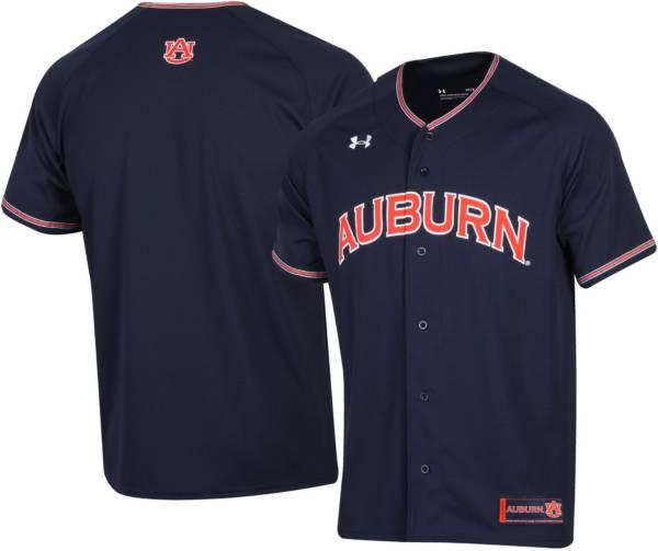 Under Armour Men's Auburn Tigers Blue Replica Baseball Jersey product image