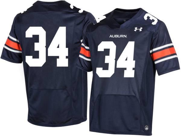 Under Armour Men's Auburn Tigers #34 Blue Replica Football Jersey product image