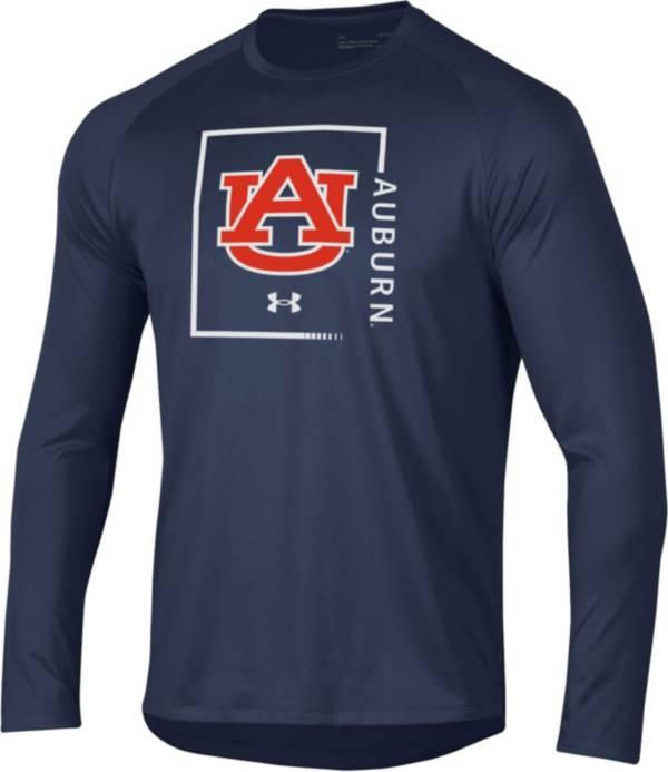 Under Armour Men's Auburn Tigers Blue Performance Cotton Long Sleeve T-Shirt product image
