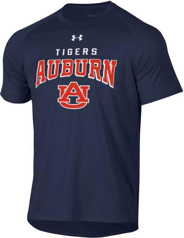 Under Armour Men's Auburn Tigers Blue Tech Performance T-Shirt product image