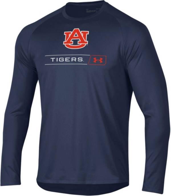 Under Armour Men's Auburn Tigers Blue Long Sleeve Tech Performance T-Shirt product image
