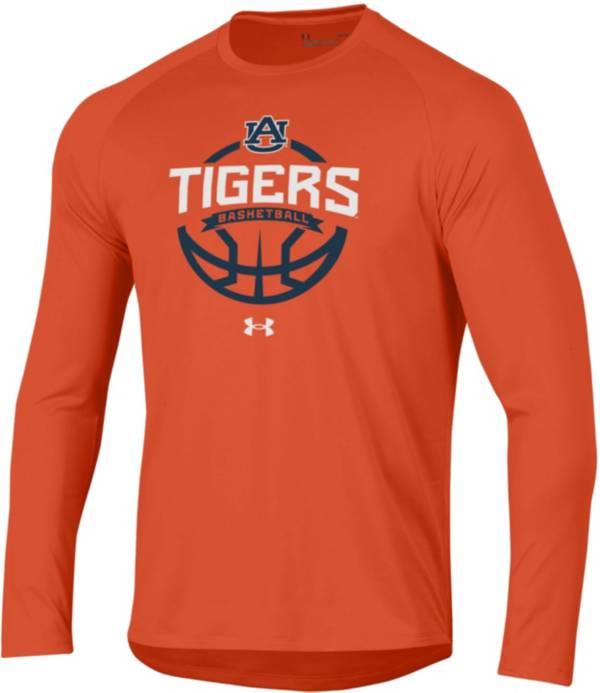 Under Armour Men's Auburn Tigers Orange Tech Performance Long Sleeve Basketball T-Shirt product image