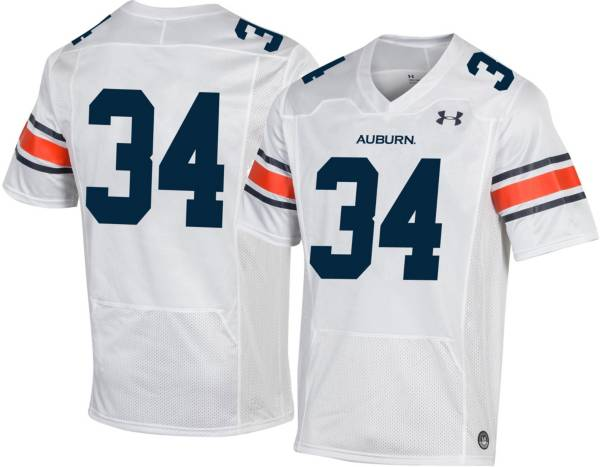Under Armour Men's Auburn Tigers #34 Replica Football White Jersey product image