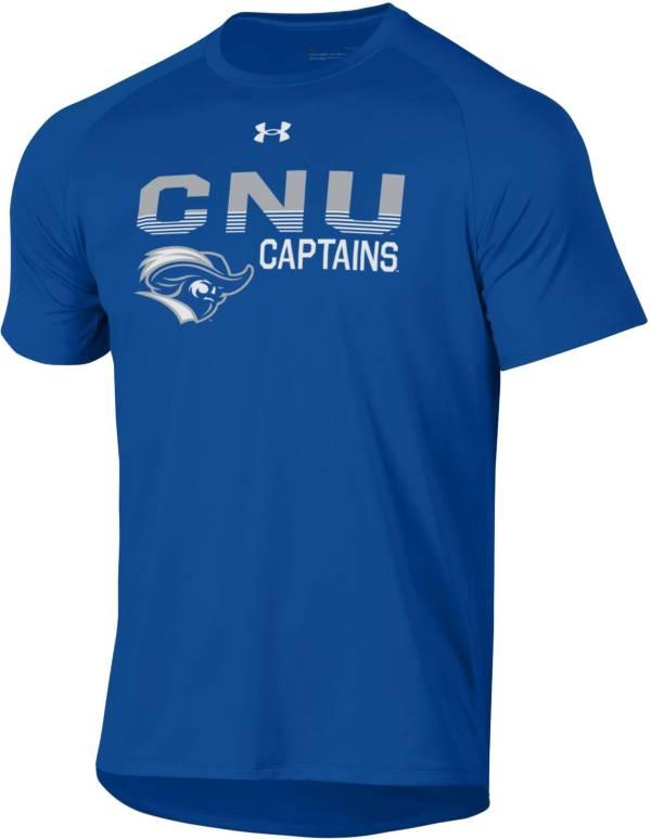 Under Armour Men's Christopher Newport Captains Royal Blue Tech Performance T-Shirt product image