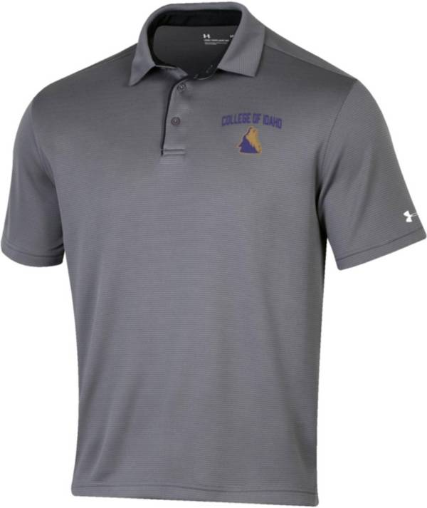 Under Armour Men's College of Idaho Yotes Grey Tech Polo product image