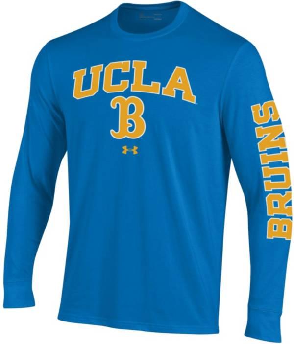 Under Armour Men's UCLA Bruins True Blue Performance Cotton Long Sleeve T-Shirt product image