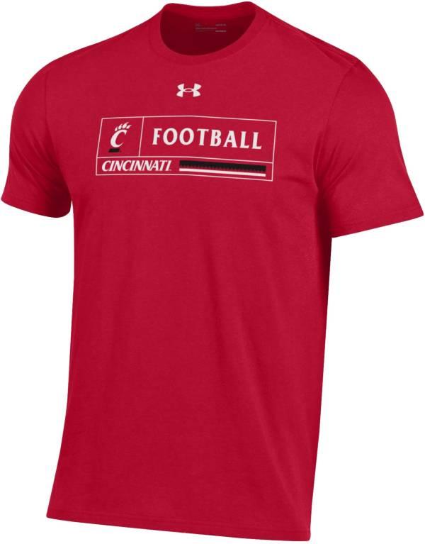 Under Armour Men's Cincinnati Bearcats Red Performance Cotton Football T-Shirt product image