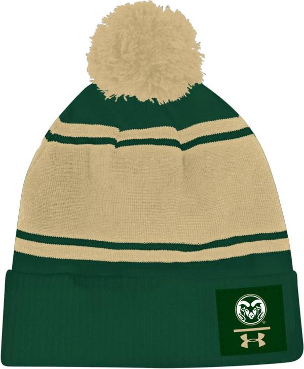 Under Armour Men's Colorado State Rams Green Pom Knit Beanie product image
