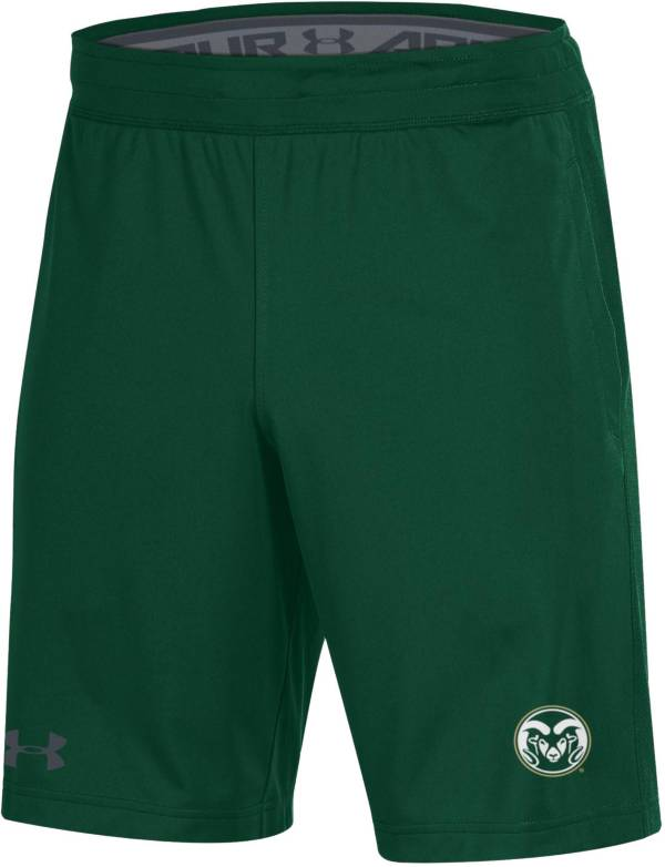 Under Armour Men's Colorado State Rams Green Raid Performance Shorts product image
