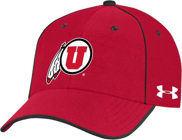 Under Armour Men's Utah Utes Crimson Isochill Adjustable Hat product image