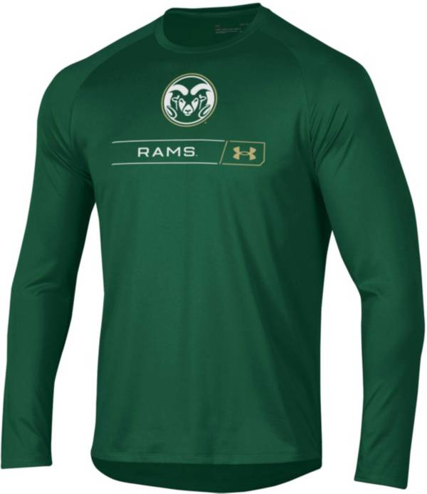 Under Armour Men's Colorado State Rams Green Long Sleeve Tech Performance T-Shirt product image