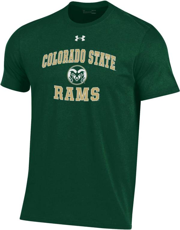 Under Armour Men's Colorado State Rams Green Performance Cotton T-Shirt product image
